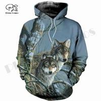 plstar cosmos 3dprint newest wolf animal hunt unique funny menwomen cozy hrajuku casual streetwear hoodieszipsweatshirt o 4