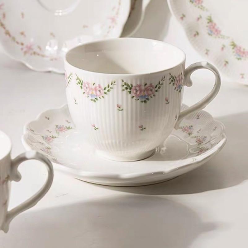 Juego de tazas de café de lujo, Tapa de Silicona roja y...
