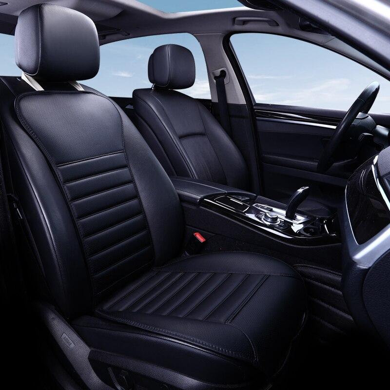 2020 nueva marca de cuero de la Pu no se mueve protector para asiento de coche Auto no deslizante cojín accesorios universales solo cubre abeto sanata E1 X40