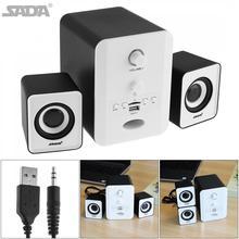 SADA D-223 Mini combinaison stéréo haut-parleur Portable colonne Subwoofer ordinateur haut-parleur avec prise Audio 3.5mm prise en charge TF carte jouer