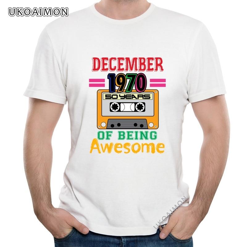 Горячая Распродажа декабря 1970 50 Crazy модные футболки винты со стандартной круглой горловиной футболка хлопчатобумажная футболка с круглым в...