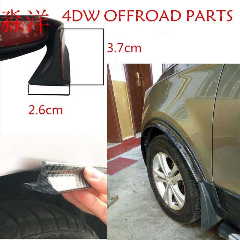 Universal 150''*2 Car Fender Flares Extension Wheel Eyebrow Protector Lip Moulding soft mudguards