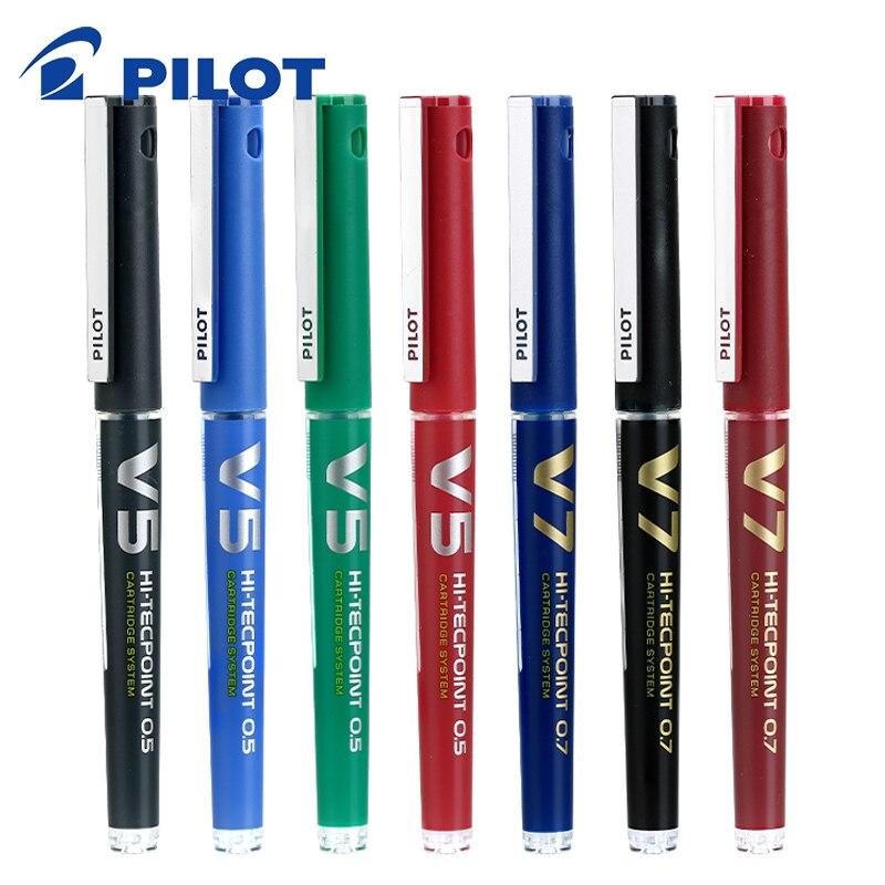 Piloto BXC-V5/7 canetas de tinta líquida recarregáveis à base de água caneta esferográfica escola artigos de papelaria material de escritório canetas de escrita 0.5/0.7mm