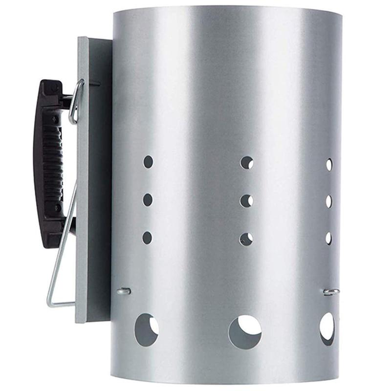مدخنة مع مقبض أمان ، مدخنة الفحم للمبتدئين لـ Weber 7416 ، 12.7x8.1x12.5 بوصة