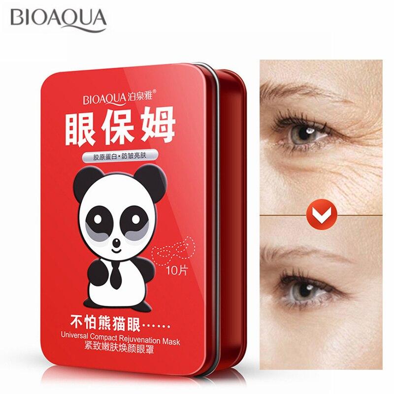 BIOAQUA 10pcs/Box Firming Lifting Mask Eye Mask Removal Dark Circle anti-wrinkle Anti-Puffiness Nourishing Sheet Eye Mask