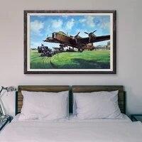 T035     peinture classique retro 14 operations de vol davion de guerre  affiche en soie personnalisee  decoration murale  cadeau de noel