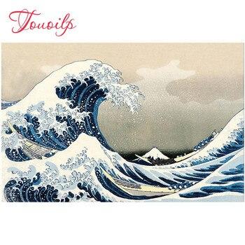 5d diy diamond painting The Great Wave off Kanagawa Japanese cross stitch 3d diamond embroidery Game kits diamond mosaic Decor