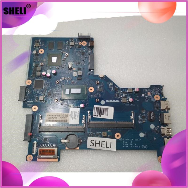 SHELI LA-A992P 792302-501 792302-001 para placa base HP 15-R con CPU de I7-4510U con tarjeta de vídeo discreta ZSO50