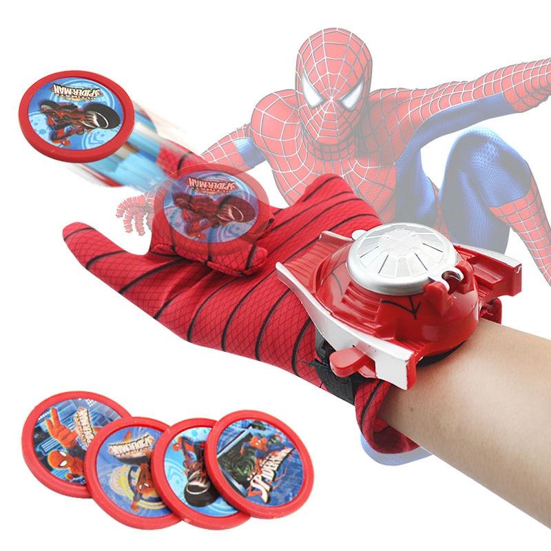 Disney Marvel Spiderman gloves send wrist launcher toy Hulk gloves anime Avengers Iron Man children gloves birthday gifts