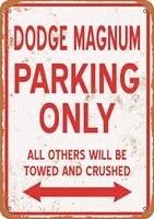 wallcolor 10 x 14 metal sign dodge magnum parking only vintage look