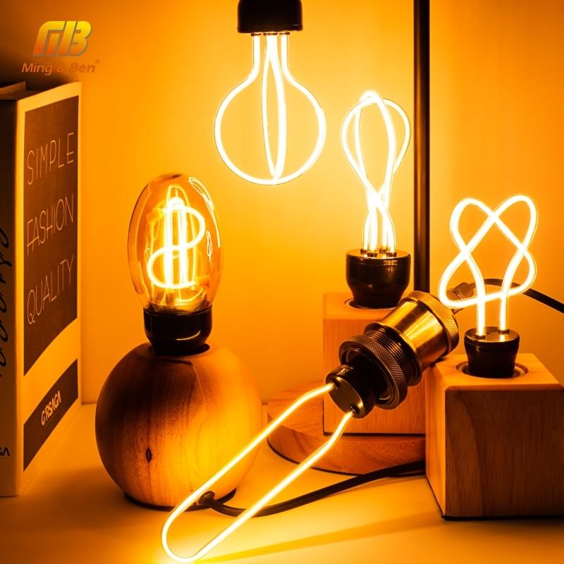 Retro bombilla LED Edison 220V 230V E27 LED de bombilla de filamento de Casa lámpara ampolla bombilla incandescente de vacaciones decoración de iluminación