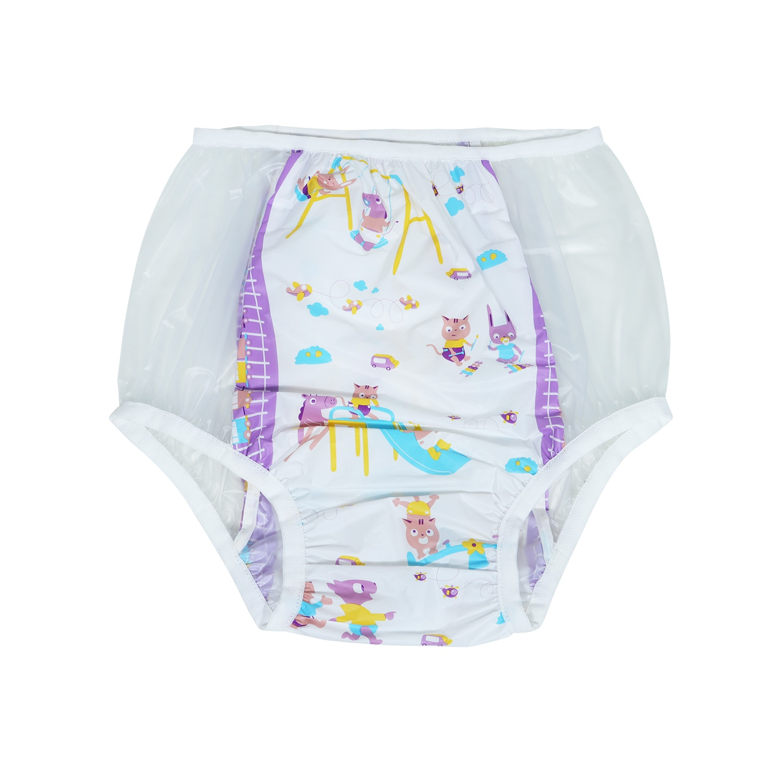 abdl adult baby diapers animal print diapers panties 6 pvc reusable panties Baby pants ddlg with Adult Pacifier little space 9P enlarge