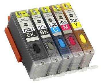 NOVA PGI-750 751 cartucho de tinta recarregáveis Para CANON PIXMA MG5470 MG5670 MG6470 MG6670 MX727 MX927 Ip7270 IX6770 MG5570 IX6870