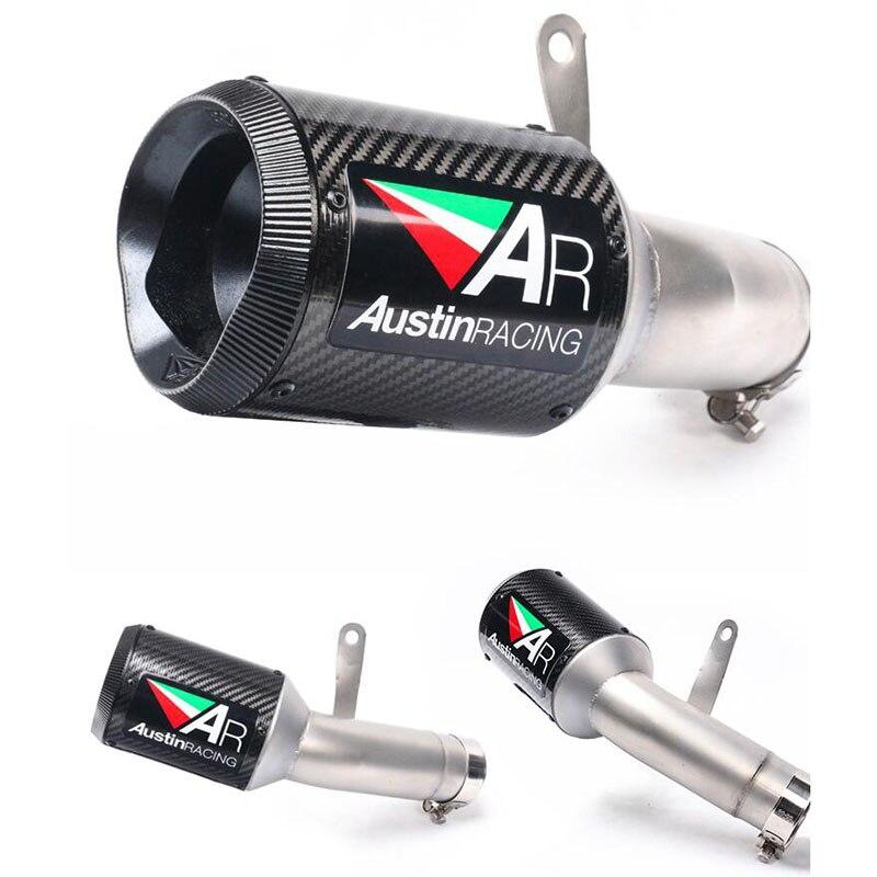 Deslizar para BMW S1000RR 2015 2016 sistema de escape para motocicleta, tubo de escape de fibra de carbono, tubo de escape sin DBKiller S1000RR