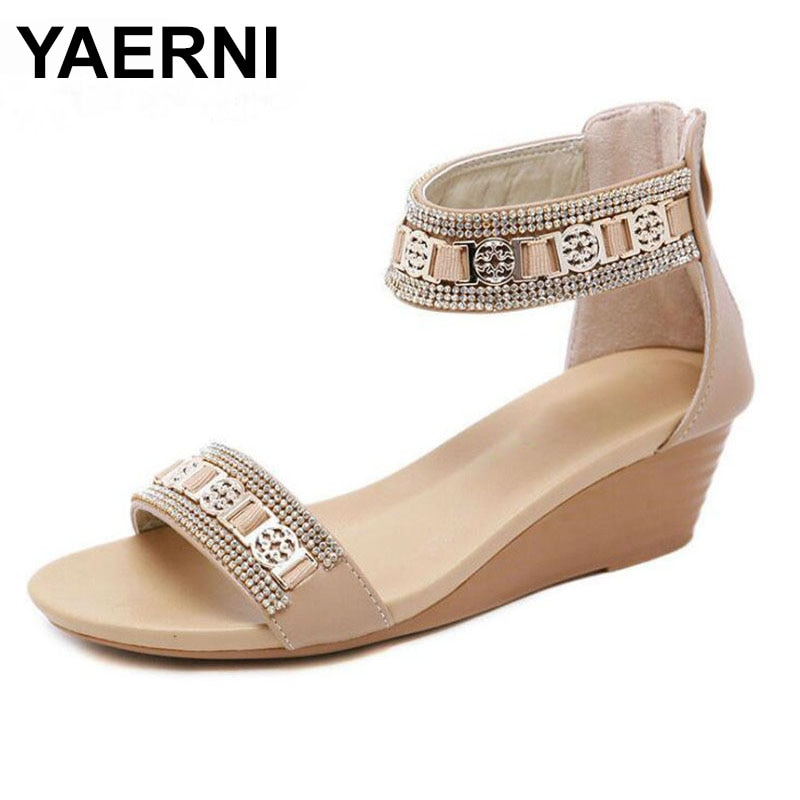YAERNINuevos zapatos sandalias de verano sandalias de mujer sandalias planas sandalias romanas...