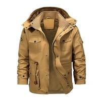 military bomber cargo jacket men multi pocket 2020 winter warm hooded coats fleece thick mens jackets tactical coat male 5xl