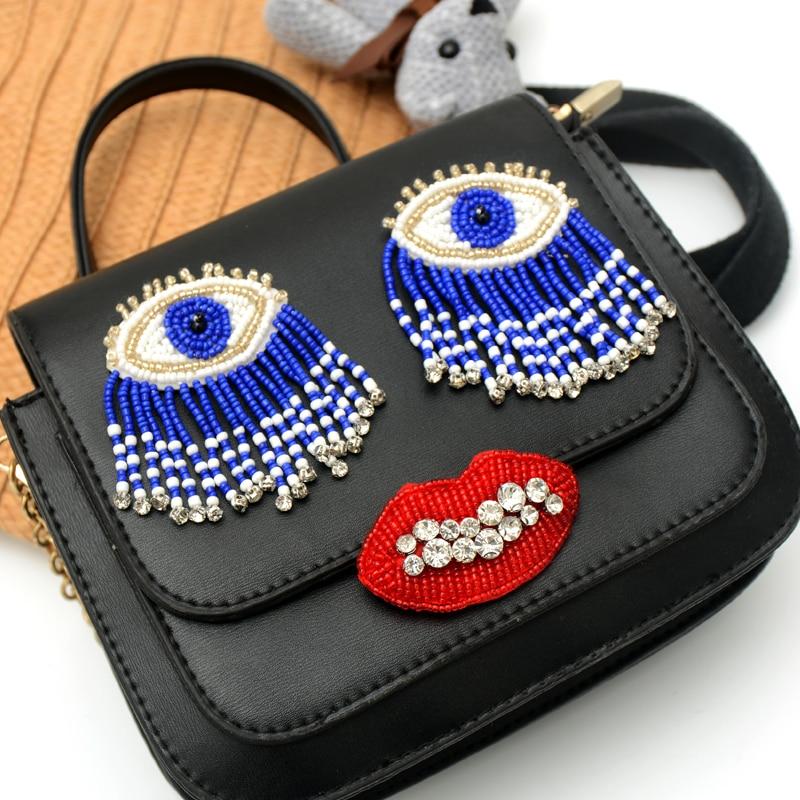2 шт. большие тканевые наклейки для сумок tessel eye, вышитые бисером нашивки для одежды bordados para ropa parches termoadhesivos ropa