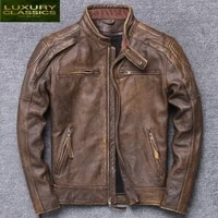 jacket 100 real leather men autumn winter clothes 2021 streetwear fit genuine cow leather coat mens leather jacket 5617