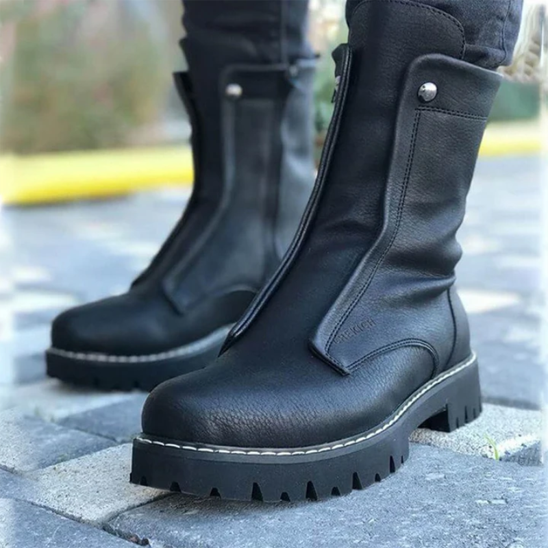 الرجال بولي Black الأسود جولة تو كعب منخفض مقاوم للماء عدم الانزلاق مريحة الكلاسيكية موضة اليومية حذاء برقبة للعمل Zapatos ZQ0259