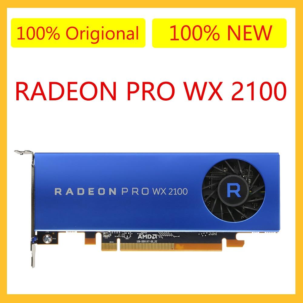 بطاقة جرافيكس أصلية جديدة لـ AMD Radeon Pro WX 2100 2GB بطاقة جرافيكس محطة العمل 2MDP1DP بطاقات فيديو الكمبيوتر WX2100
