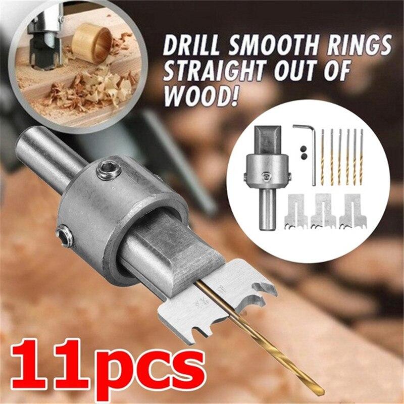 11 Uds., broca de carburo, hoja de bola, herramienta de fresado para carpintería, herramienta de moldeo, cuentas de madera de DIY, conjunto de brocas para enrutador