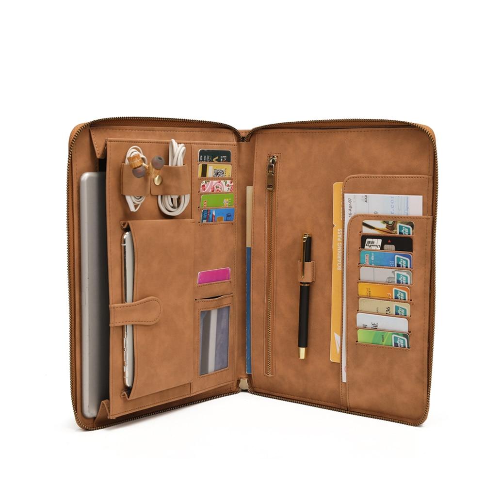 Мужской чехол-портфолио для iPad 9,7 дюйма, профессиональный деловой Чехол-портфолио, Дорожный Чехол-переноска с надежной застежкой-молнией чехол