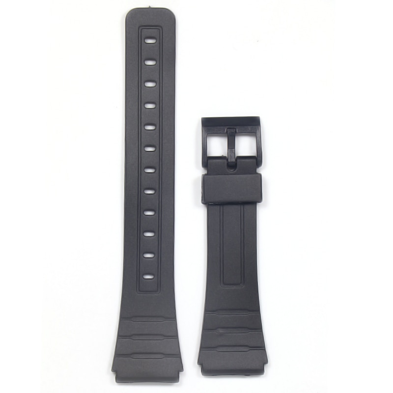 watch-band-replacement-strap-for-casio-f-91w-18mm-black-resin-plastic-wrist-watchstrap-with-pins-metal-buckle-f91-f91w