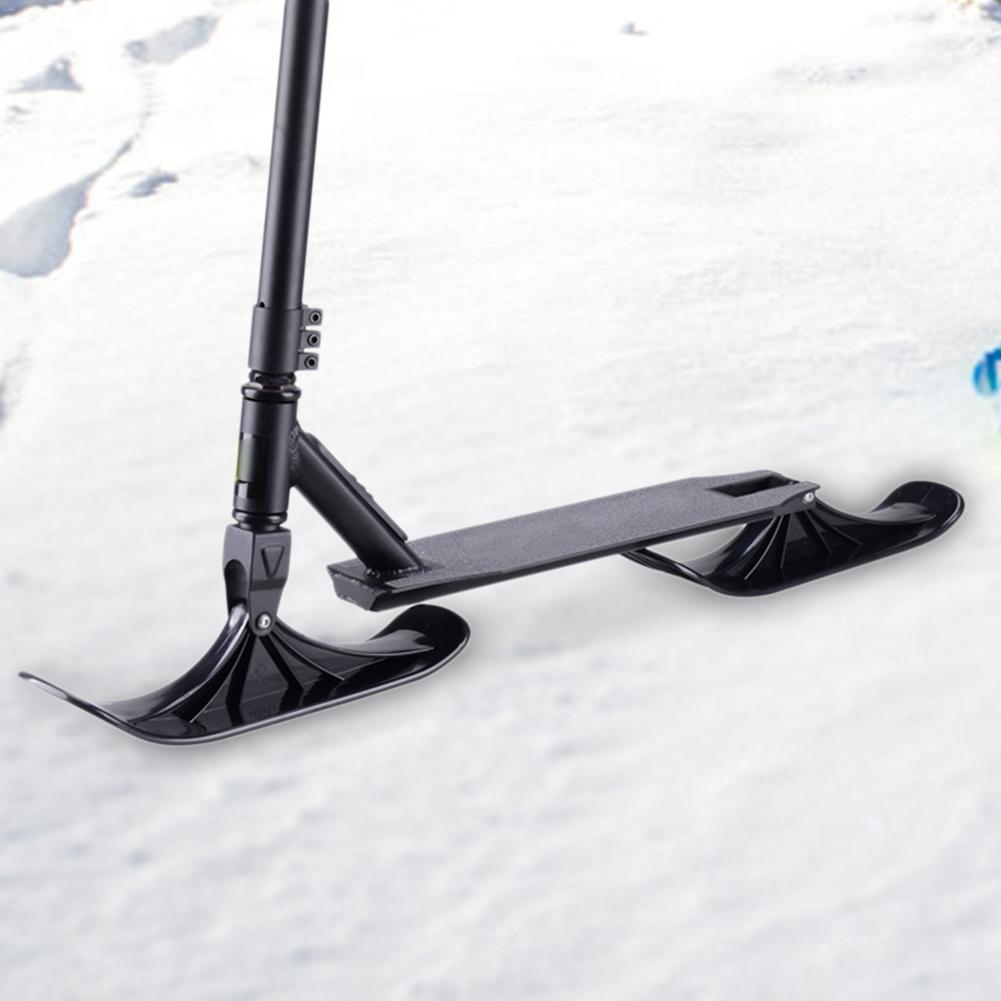 Trineo de esquí de nieve Universal Scooters montaje trineo de esquí Junta niños equilibrio Scooter accesorios invierno esquí suministros