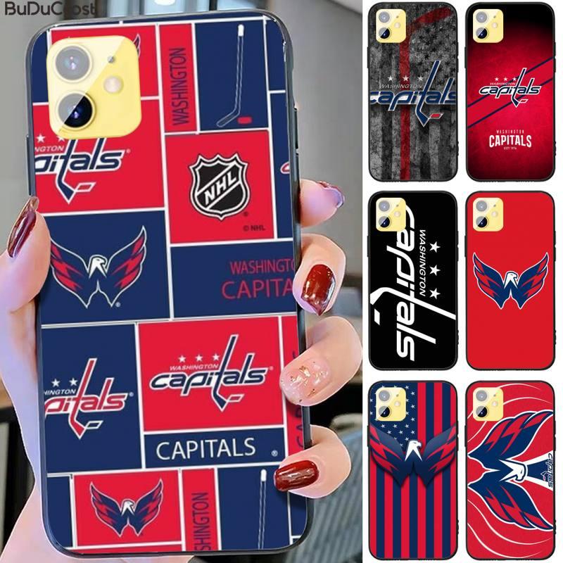 Riccu Washington hockey team badge DIY Phone Case for iPhone 11 pro XS MAX 8 7 6 6S Plus X 5S SE XR case