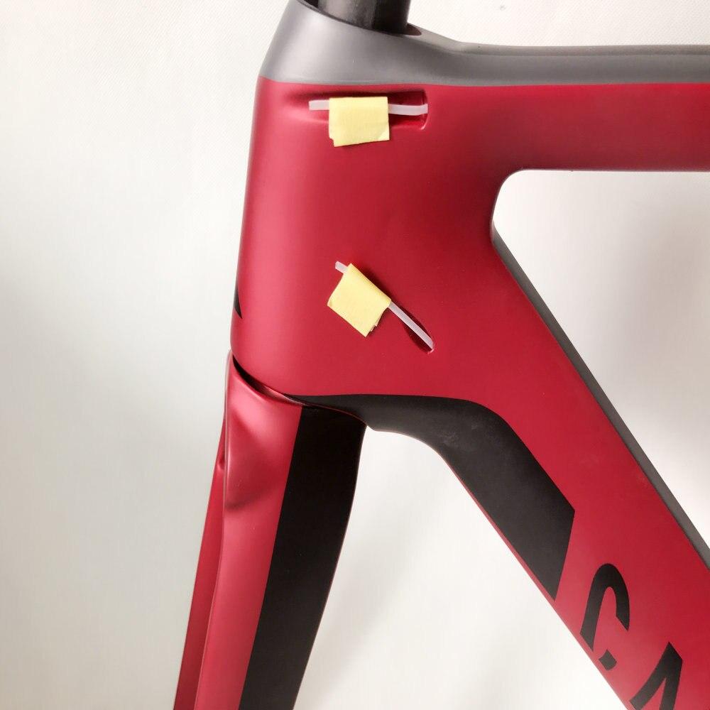 Aeroad bicicleta quadro de carbono xcl conjunto de quadros de carbono completo na bicicleta t1100 ud vermelho volta cor v freios taiwan quadro da bicicleta xxs/xs/s/m/l