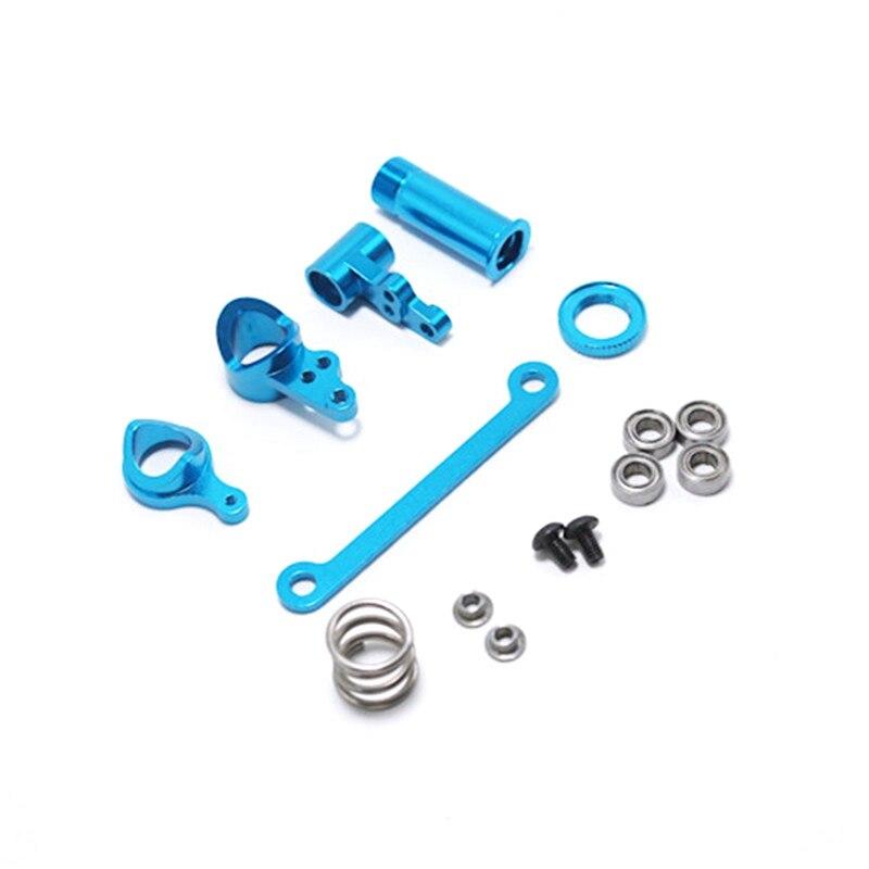 1 Set Steering Clutch Assembly Steering Servo Saver Complete Upgrade Parts Blue 5 Pcs with RC Car Motor Holder enlarge