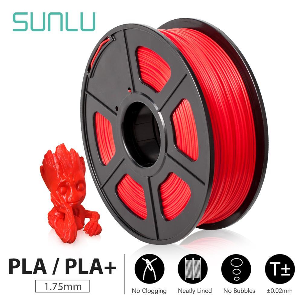 SUNLU 3D Printer Filament PLA/PLA Plus 1.75mm High Quality PLA Filament Low Shrinkage Consumable For 3D Printer And 3D Pens 1KG