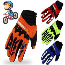 Children Skating Gloves Full Finger Adjustable Quick-release Handwear Outdoor Sportswear Accessories
