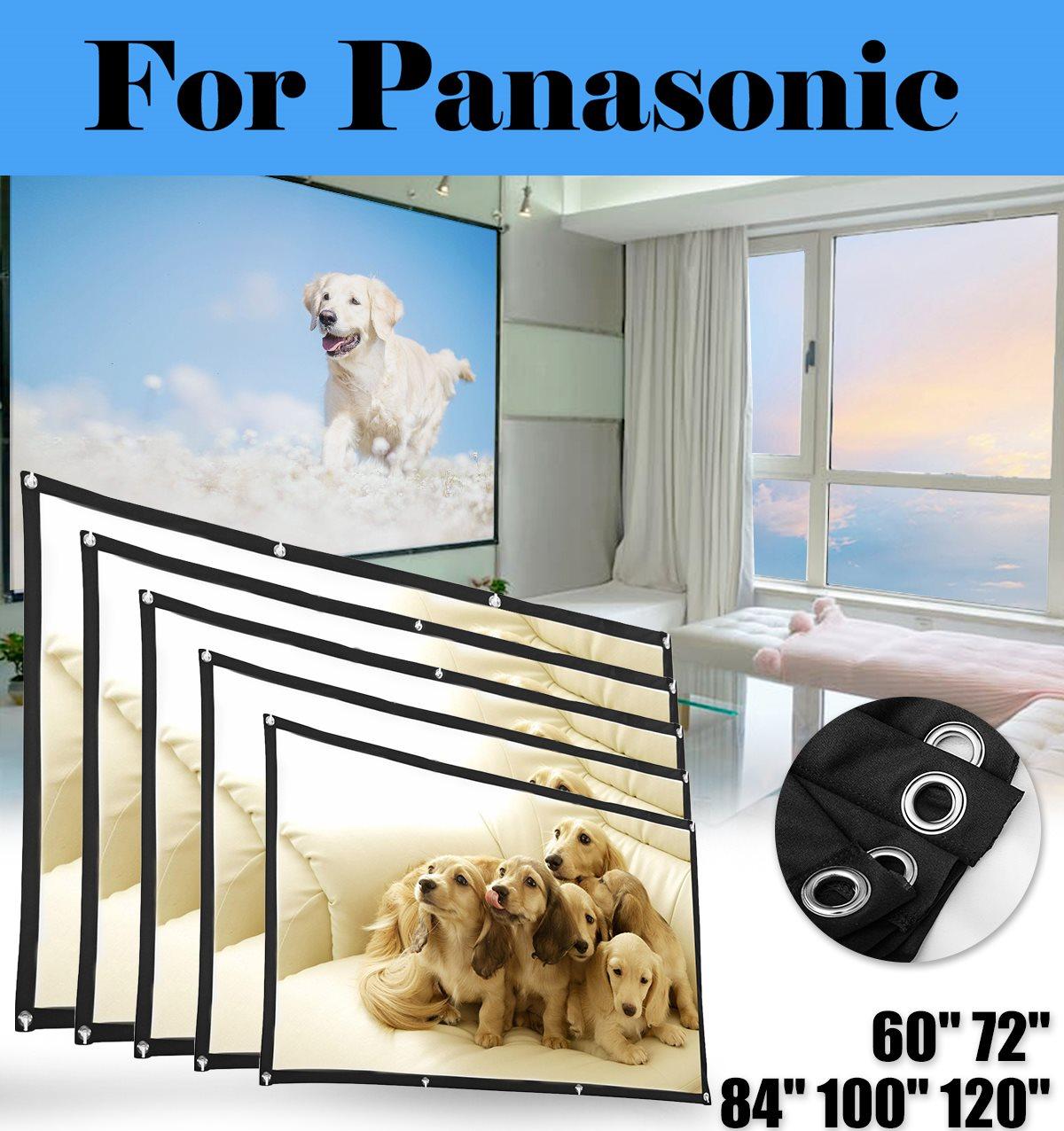 Portátil HD 120 pulgadas 43 plegable de fibra de pantalla de proyección para Panasonic PT-RZ570U PT-RZ570WU PT-RZ575U PT-RZ660BU