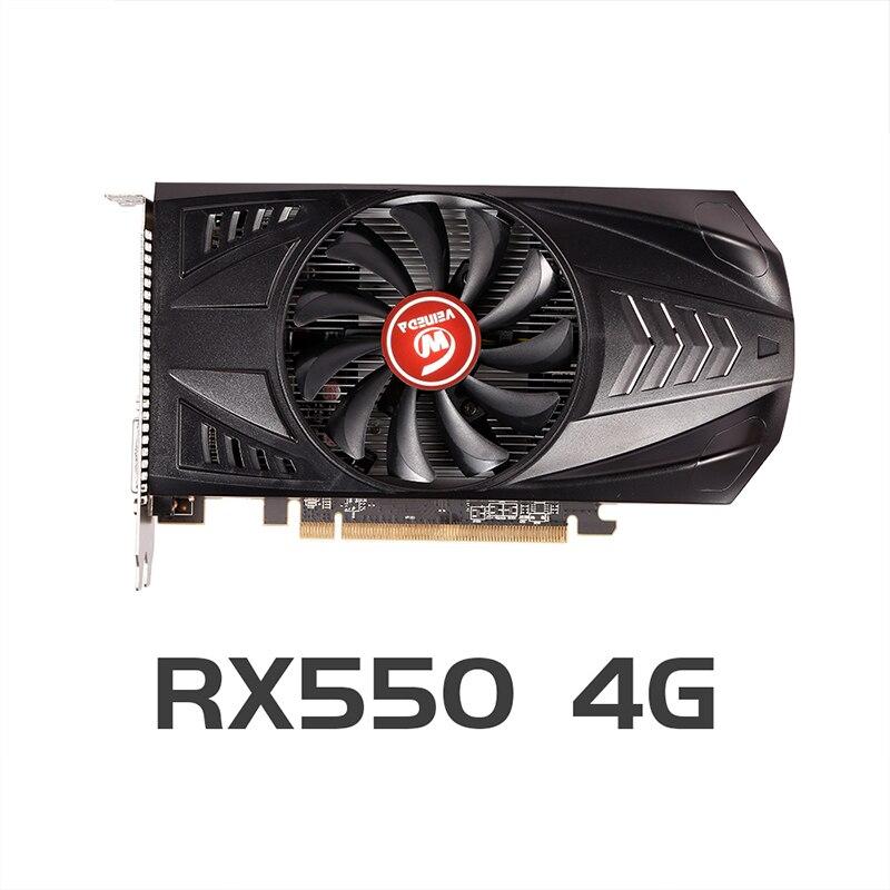 VEINEDA Original RX 550 4GB Video Cards GPU AMD Radeon RX550 4GB GDDR5 Graphics Cards PC Desktop Com
