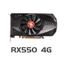 VEINEDA Original RX 550 4GB Video Cards GPU AMD Radeon RX550 4GB GDDR5 Graphics Cards PC Desktop Com