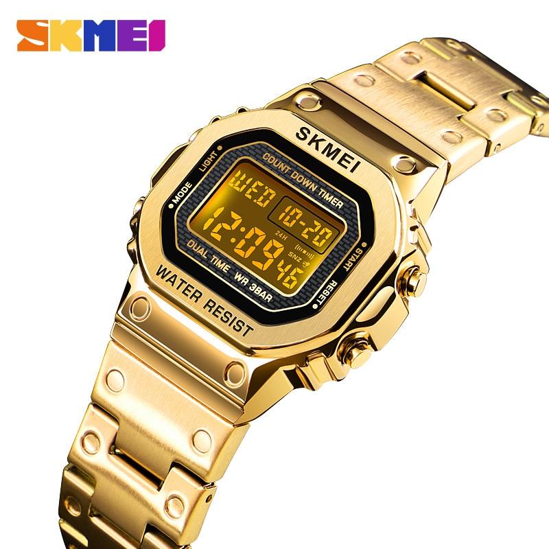 SKMEI Women Digital Watches Fashion Sport Wristwatch Stopwatch Chronograph Waterproof Bracelet Ladies Dress Watch Alarm Clock