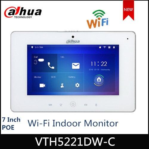 """Dahua Video intercomunicadores WiFi Monitor interior 7 """"TFT VTH5221DW-C de pantalla táctil para timbre de puerta de tarjeta Micro SD de vigilancia IPC"""