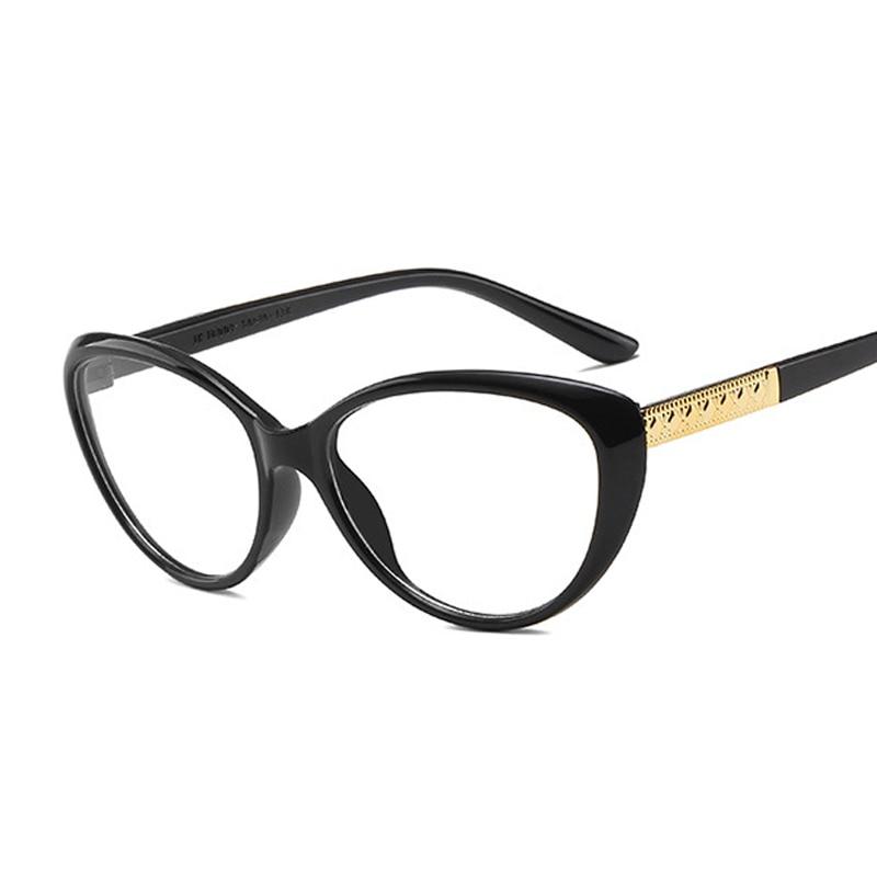 Ladies Round Fashion Large Full Frame Vintage Cat Eye Trendy Glasses Frame for Women Multiple Colour Flat Mirror