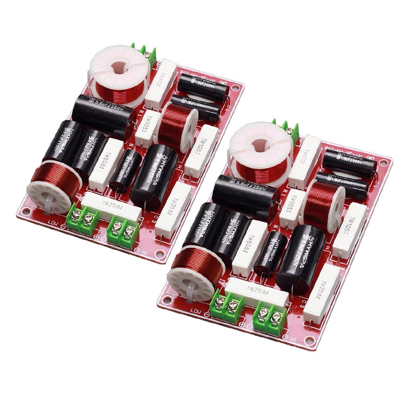 2 uds 2 250W altavoz de agudos 3200Hz bajo divisor de frecuencia de teatro en casa estéreo HiFi de cruce de audio filtros