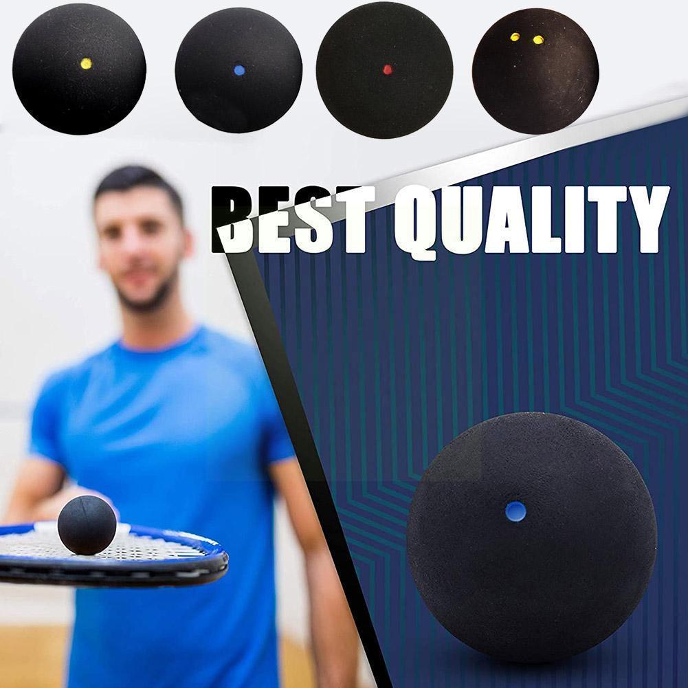 1 шт. 37 мм Профессиональный мяч для Сквош желтая точка низкоскоростной тренировочный резиновый мяч для Сквош упаковка в трубку синий мяч N1n4
