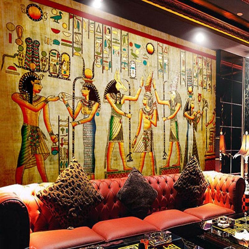 Custom Photo Wallpaper High Quality Modern Luxury 3D Wall Mural Papel De Parede Home Decor Egyptian Murals Pintado