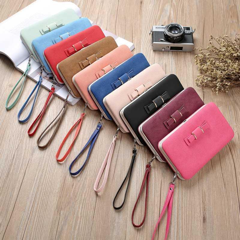 Wallet Purse Handbag Zip Holder Clutch Bag Womens Ladies Leather Phone Card Coin