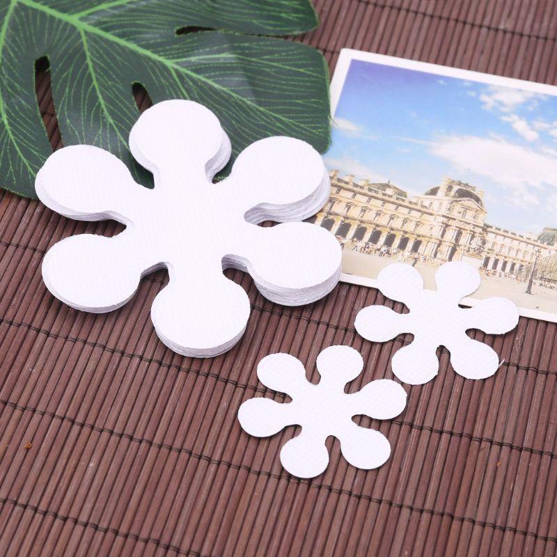 Pegatinas antideslizantes para bañera, 8 unidades por paquete, con forma de copo de nieve, pegatinas de baño, ducha para baño de Casa