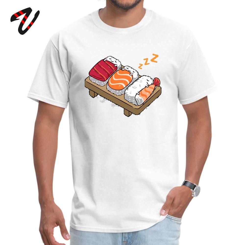 Camiseta Sleeping Sushis verano otoño 2019 moda Normal manga de pico todas las Lucha Libre cuello redondo para hombre camiseta Normal camisetas