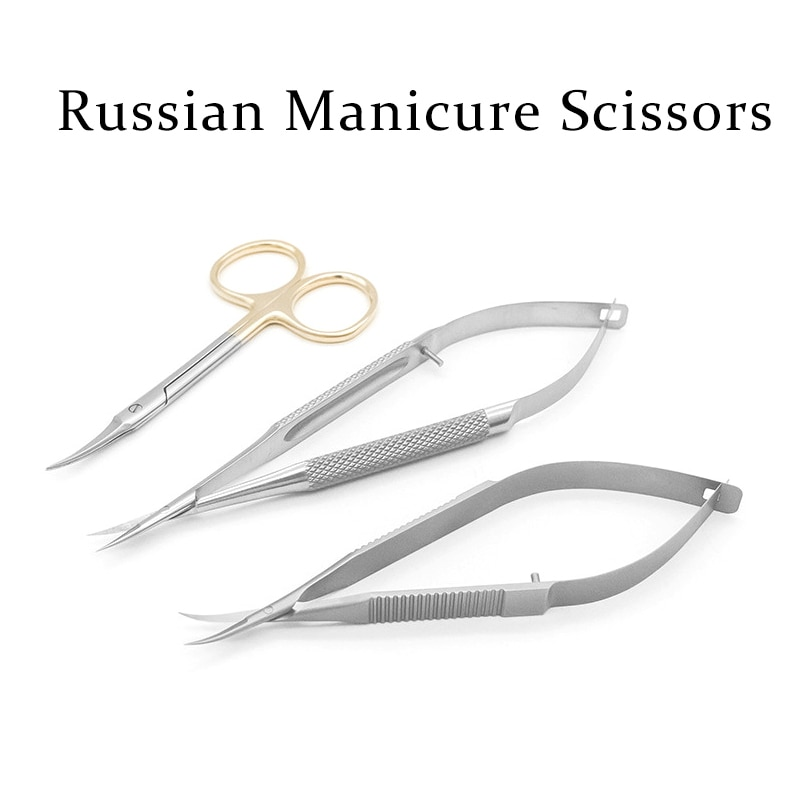 Russian Manicure Inox Stainless Steel Manicure Nail Cuticle Scissors Nail Trimmer Cuticle Remover An