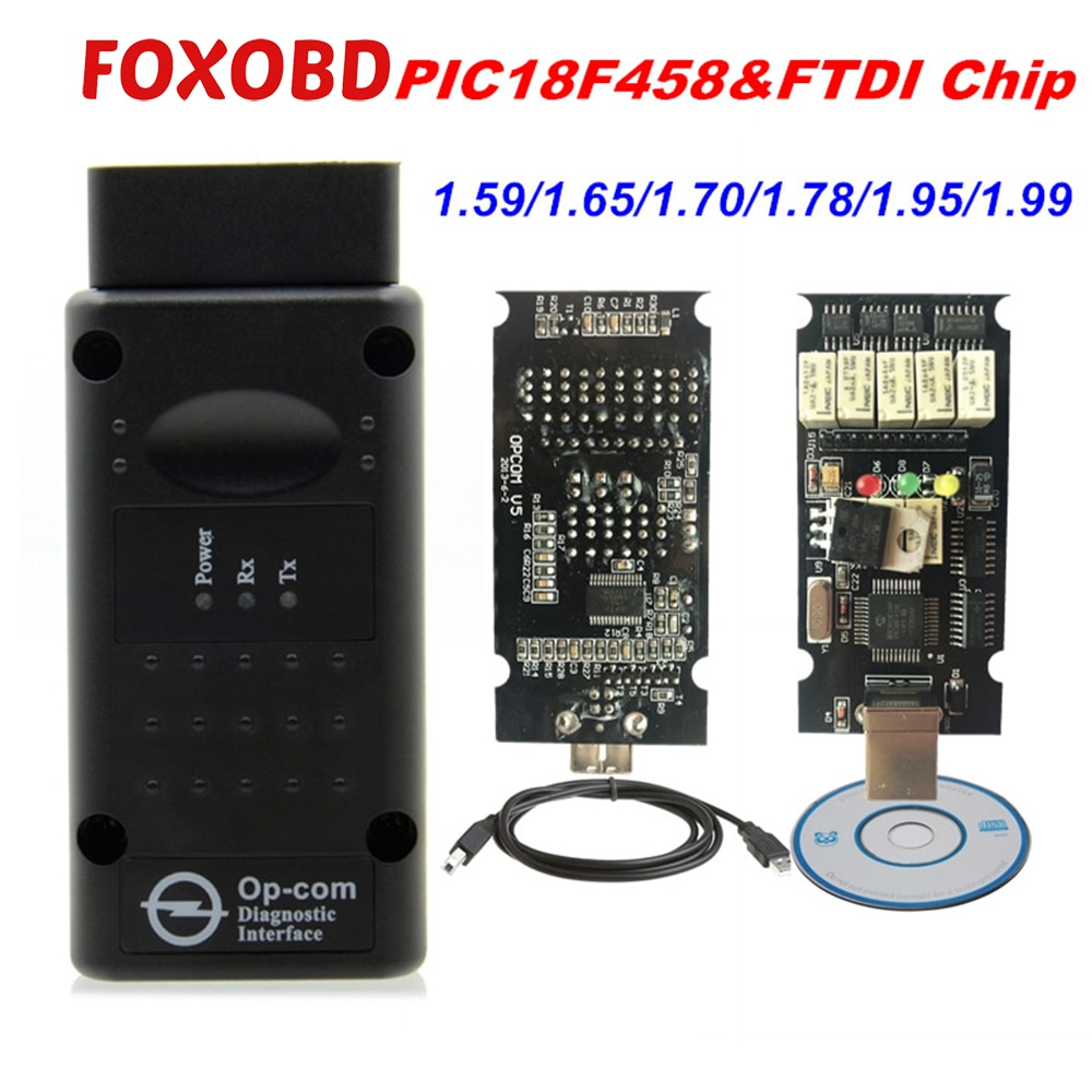 Latest Firmware OPCOM 1.99 1.95 1.78 1.70 1.65 OBD2 CAN-BUS Code Reader For Opel OP COM OP-COM Diagnostic PIC18F458 FTDI Chip