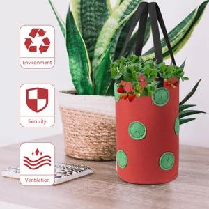 1Pc Household Planting Bag Gardening Bag Hanging Strawberry Bag (13 Holes)