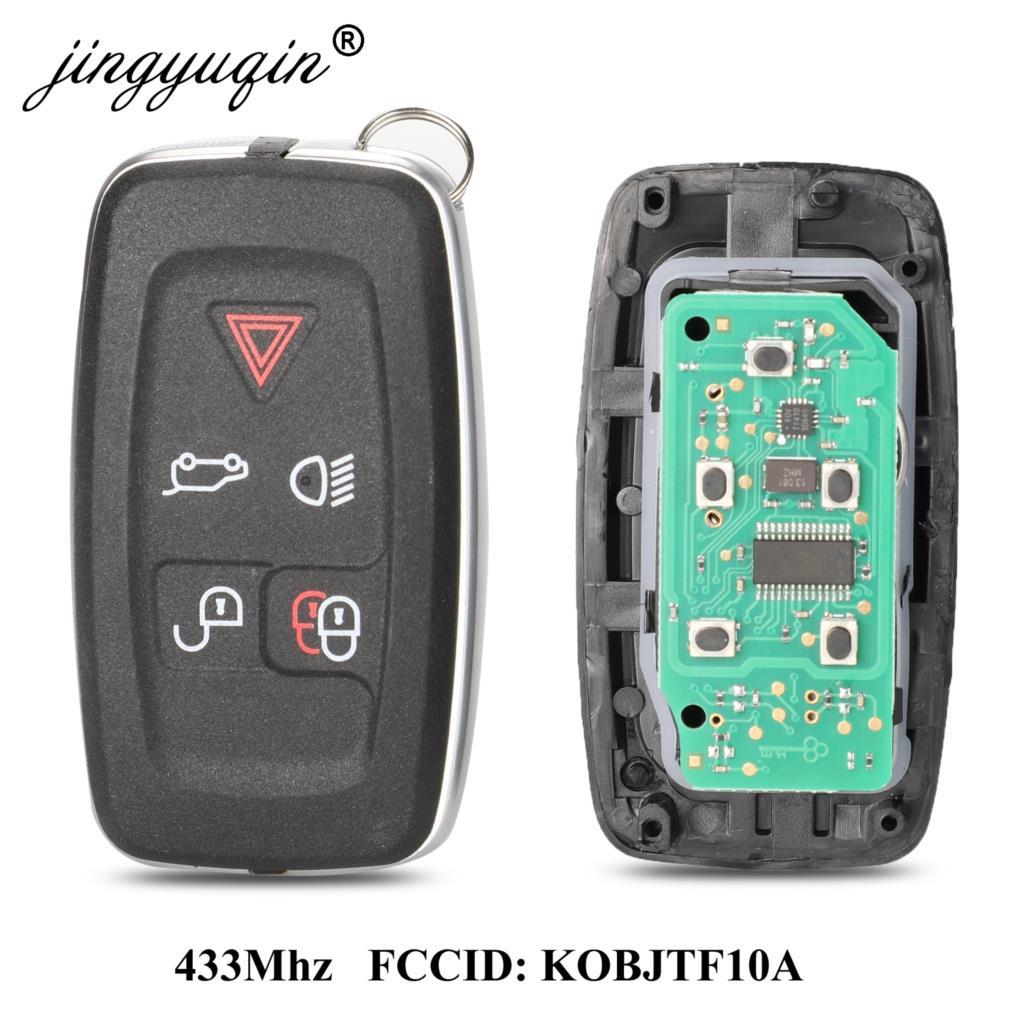 Jingyuqin 315mhz/433mhz 5 botões remoto chave fob para land rover lr4 range rover evoque esporte kobjtf10a chave de controle
