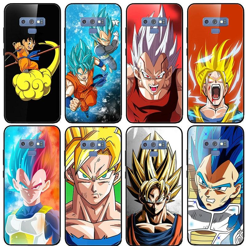 Dragon Ball Z Super Saiyan Goku Vegeta de vidrio templado para Samsung S8 S9 S10 A6 A8 A9 A10 A20 A40 A50 A70 A80 Plus